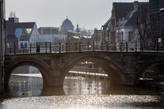 Ponte (Hoogbrug) in Malines Immagini Stock Libere da Diritti