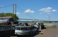 Ponte Humber, Barton Upon Humber Il Regno Unito fotografie stock libere da diritti
