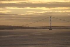 Ponte Humber sopra il fiume Humber - Yorkshire Fotografie Stock Libere da Diritti