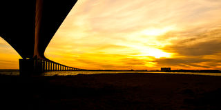 A ponte a Ile De Ré, France Imagens de Stock