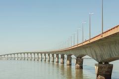 Ponte a Ile de Re (Pont de l'île de Ré) Imagem de Stock Royalty Free