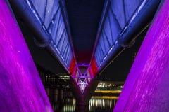 Ponte iluminada Foto de Stock