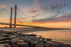 Ponte indiana do rio da entrada Imagens de Stock