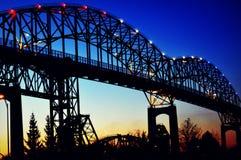 Ponte internazionale in Sault Ste marie Immagine Stock Libera da Diritti