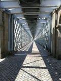 Ponte internazionale sopra il fiume Mino immagini stock