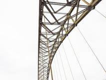 Ponte isolato su bianco Fotografia Stock Libera da Diritti