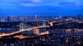 Ponte Istambul Turquia de Bhosphorus Imagem de Stock