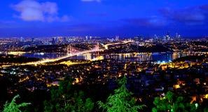 Ponte Istambul Turquia de Bosphorus Fotografia de Stock