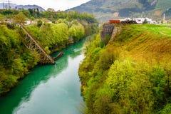 Ponte in Jablanica, Bosnia Fotografia Stock