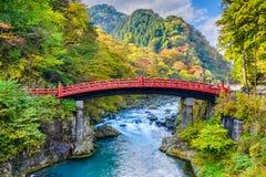 Ponte Japão de Shinkyo fotos de stock