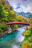 Ponte Japão de Shinkyo foto de stock