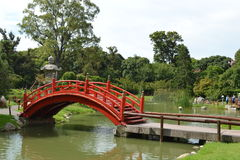 Ponte japonesa do jardim Fotografia de Stock