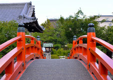 Ponte japonesa do jardim Fotografia de Stock Royalty Free