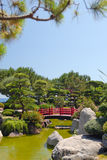 Ponte japonesa no jardim do zen Imagens de Stock