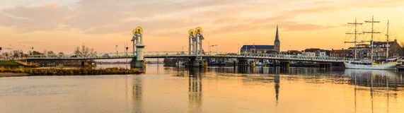 Ponte Kampen della città Fotografia Stock Libera da Diritti