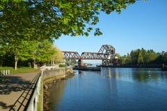 Ponte levadiça da estrada de ferro Imagem de Stock