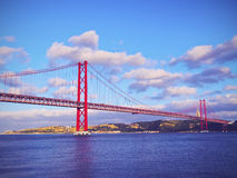 Ponte a Lisbona Fotografie Stock