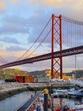 Ponte a Lisbona Fotografia Stock