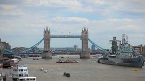 Ponte Londres da torre video estoque