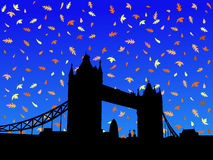 Ponte Londres da torre no outono ilustração do vetor