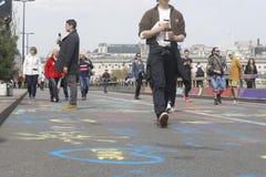 Ponte Londres de waterloo do protesto da rebelião da extinção fotos de stock royalty free