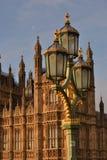 Ponte Londres de Westminster da lâmpada de rua Fotografia de Stock Royalty Free