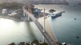 Ponte longa da baía do Ha Imagens de Stock