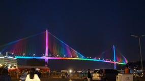 Ponte longa do Ha noite Fotos de Stock Royalty Free