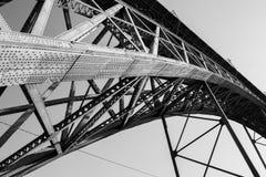Ponte luÃs Porto, Przerzucam most Obraz Royalty Free