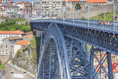 Ponte Luis I, designed by Gustave Eiffel in Porto Royalty Free Stock Photo
