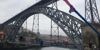 Ponte Luis I, Porto, Portugal royaltyfria foton
