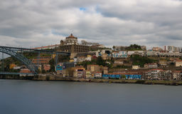 Ponte Luis I y Serra font Pilar Porto Photos libres de droits