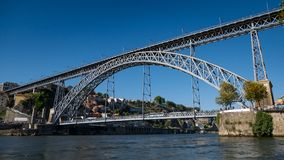 Ponte Luiz I / Dom Luis I Bridge on Douro River, Porto, Portugal royalty free stock image