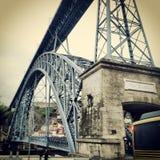 Ponte luiz I på porto Royaltyfri Fotografi