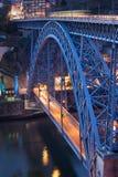 Ponte Luiz I in Porto at Dusk Royalty Free Stock Photography