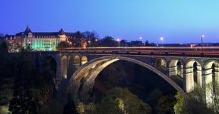 Ponte Luxembourg de Pont Adolfo Imagens de Stock Royalty Free