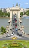 A ponte a mais velha em Budapest Fotos de Stock Royalty Free