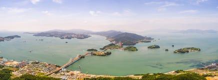 Ponte, mar e ilhas Imagens de Stock