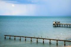 Ponte in mare Immagine Stock