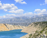 Ponte Maslenica na estrada A1, Croácia Foto de Stock Royalty Free