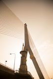 Ponte mega em Banguecoque (ponte de Rama 8) Imagem de Stock