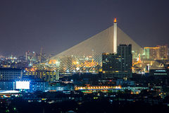 Ponte mega tailandese dell'imbracatura a Bangkok Fotografia Stock Libera da Diritti