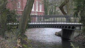 Ponte metallico di Art Nouveau della corrente video d archivio