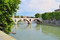 Ponte Milvio Imagens de Stock Royalty Free