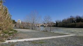 Ponte Milvio in Rome Royalty Free Stock Photos