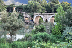 Ponte Milvio in Rome Royalty Free Stock Images