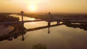 Ponte moderno del pendente video d archivio