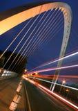 Ponte moderno a Manchester Immagini Stock