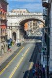 Ponte Monumentale in Via XX Settembre. Genova. Liguria, Italy. Royalty Free Stock Photography
