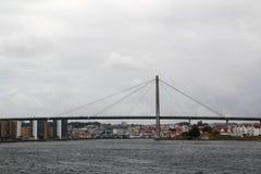 A ponte na balsa da tau, Noruega da reunião de Stavanger imagem de stock